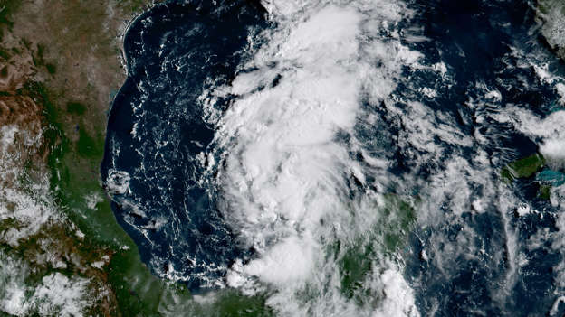 Slide 65 of 65: GOES-16 is keeping its eye on the remnants of what was once Tropical Storm Harvey, which has regenerated into a Tropical Depression today, August 23, 2017. At 10:00 am CDT, NOAA's National Hurricane Center reported that Harvey is located about 535 miles south-southeast of Port O'Connor, Texas, is moving toward the northwest at 9 miles per hour, and features maximum sustained winds of 35 miles per hour with higher gusts. Some strengthening is forecast during the next 48 hours, and Harvey could become a hurricane on Friday (8/25). This image appears courtesy of our partners at the Cooperative Institute for Research in the Atmosphere (CIRA). To see more GOES-16 imagery and animations, visit the NESDIS website. Please note: GOES-16 data are currently experimental and undergoing testing and hence should not be used operationally. Referral: NOAA National Weather Service National Hurricane Center Terms of Use: Please credit NOAA Keywords: tropical depression, Harvey, GOES-16, 2017.08.23