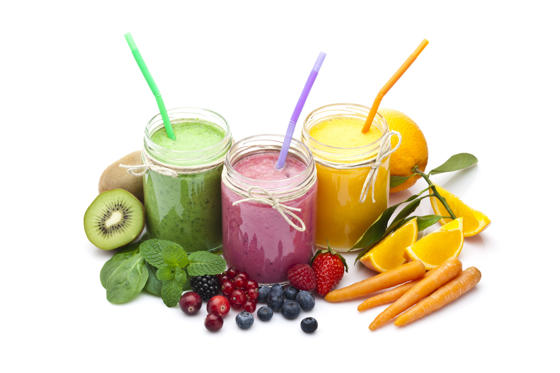 Slide 1 of 29: <p>Fruit juice</p><p>This contains nutrients that boost our defence cells. You should try a combination of vegetables, cereal and seeds to reap the full benefits.</p>