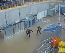 Workers escape scary accident