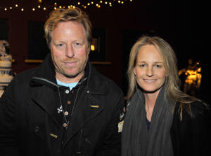 (EXCLUSIVE COVERAGE) Helen Hunt (R) and Matthew Carnahan attend 'Standing On Ceremony: The Gay Marriage Plays' at Largo At The Coronet on December 6, 2010 in Los Angeles, California. ***Exclusive*** (Photo by Dr. Billy Ingram/WireImage)