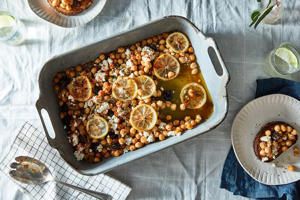 Joy the Baker's Olive Oil-Braised Chickpeas (More or Less) by Sarah Jampe