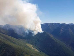 The Harrop Creek fire on July 29, 2017. Though it grew to 2,500+ hectares, it was 100 per cent contained as of mid-August.