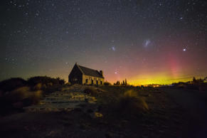 Aurora Australis also known as The Southern Lights were taken at the ever famous Church of The Good Shepherd at Lake Tekapo South Island of New Zealand.