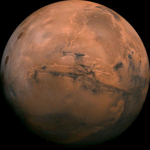 This image provided by NASA shows the plant Mars.<br />