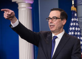 The US Treasury Department, led by Secretary Steven Mnuchin, issued the sanctions against 10 companies and six people.