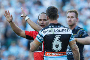 Whodunit? … The referees, if Cronulla Sharks coach Shane Flanagan is to be believed.
