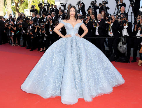 Slide 3 of 13: Aishwarya Rai Bachchan attends the 'Okja' screening during the 70th annual Cannes Film Festival at Palais des Festivals on May 19, 2017 in Cannes, France.