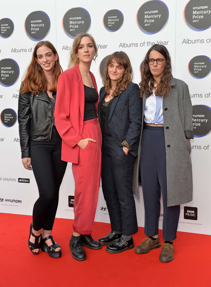 The Big Moon arrives at the Hyundai Mercury Prize 2017 at Eventim Apollo on September 14, 2017 in London, England.