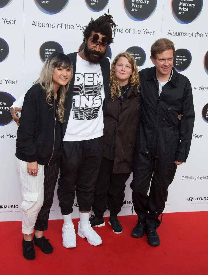 Kate Tempest and her Band attend The Hyundai Mercury Prize at Eventim Apollo on September 14, 2017 in