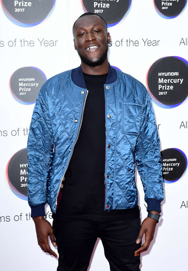 Stormzy attending the 2017 Hyundai Mercury Music Prize ceremony at the Hammersmith Apollo in London.