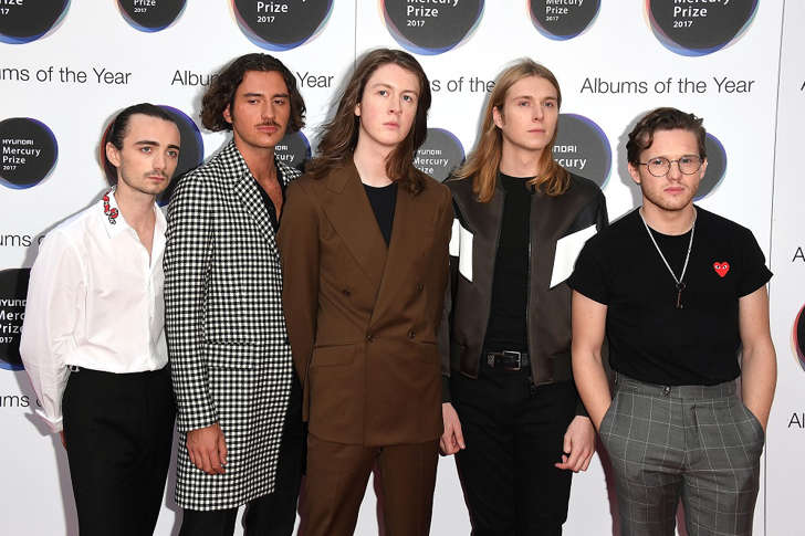 Blossoms arrive at the Hyundai Mercury Prize 2017 at Eventim Apollo on September 14, 2017 in London, England.