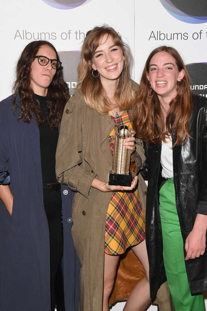 Mercury Prize nominees (L-R) Fern Ford, Juliette Jackson and Celia Archer of The Big Moon attend The Hyundai Mercury Prize Nominations Announcement at The Langham Hotel on July 27, 2017 in London, United Kingdom.