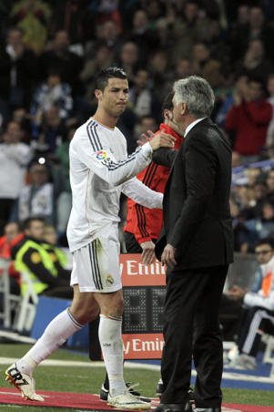 Ronaldo and Ancelotti