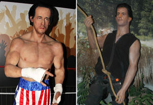 So Bad They Are Funny; The Amazing And Hilarious Waxworks At The 'legends Of Wax' Show The Hop Farm Paddock Wood Kent. Sylvester Stallone As 'rocky'.; Sylvester Stallone im Film 'Rambo', Wax Museum, Wachsfigur, Los Angeles, LA, Kalifornien, Californien, USA, Amerika, Nordamerika, Reise, Hollywood, 15.05.2003, Schauspieler, Promis, Prominenter, Prominente, (Photo by Peter Bischoff/Getty Images)