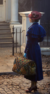 Slide 1 of 31: Mary Poppins (Emily Blunt) returns to the Banks home after many years and uses her magical skills to help the now grown up Michael and Jane rediscover the joy and wonder missing in their lives in MARY POPPINS RETURNS, directed by Rob Marshall.