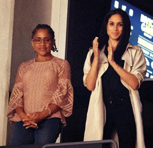 Doria Ragland and Meghan Markle at the Invictus Games closing ceremony