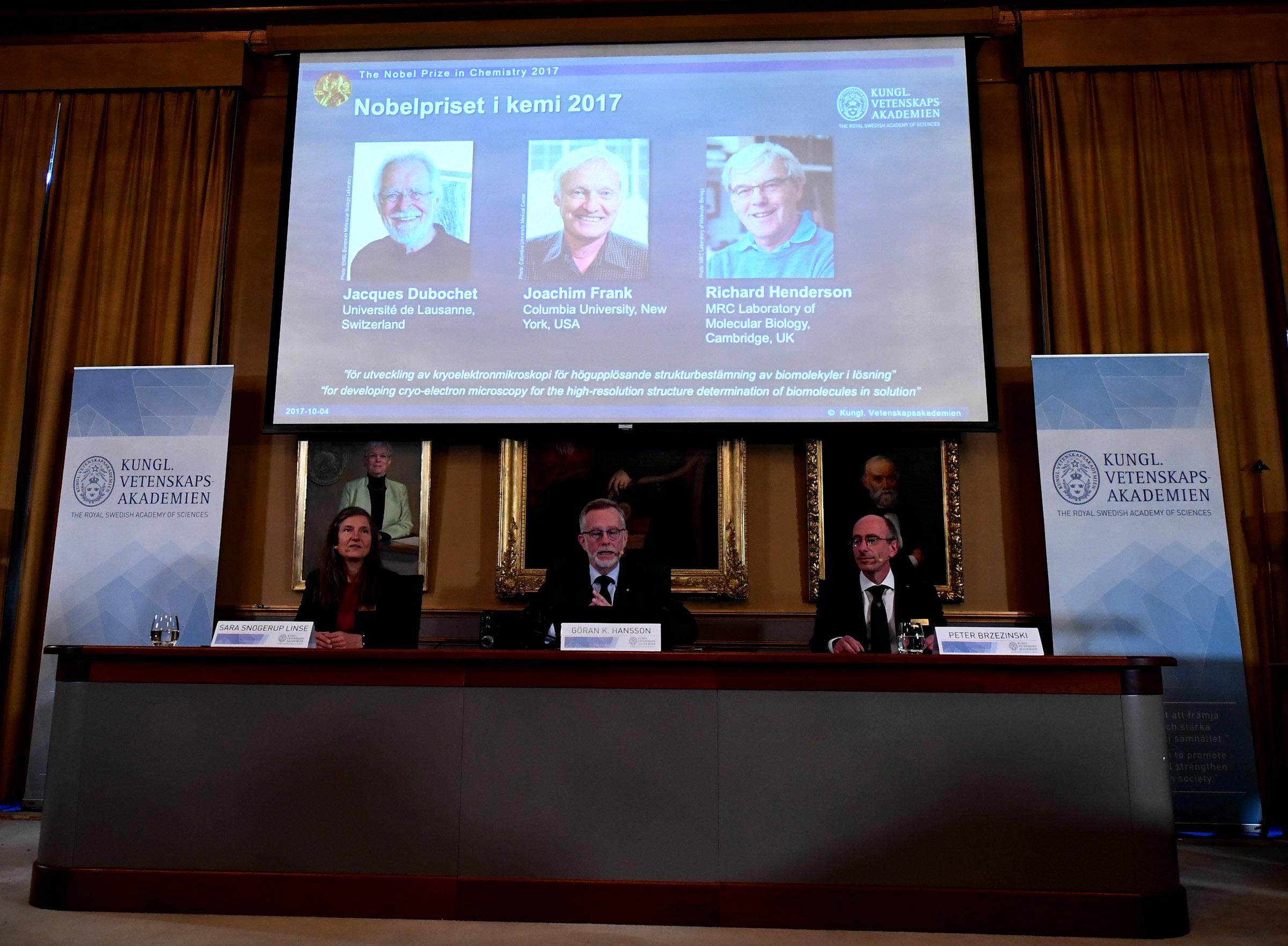 Microscope trailblazers win 2017 Nobel Chemistry Prize
