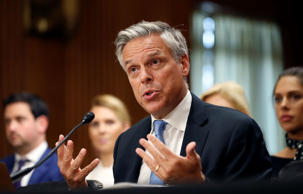 Former Utah Gov. Jon Huntsman testifies during a hearing of the Senate Foreign Relations Committee on his nomination to become the U.S. ambassador to Russia, on Capitol Hill, Tuesday, Sept. 19, 2017 in Washington.