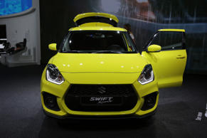 The Japanese car manufacturer Suzuki presents the Suzuki Swift Sport at the 67. IAA. The 67. Internationale Automobil-Ausstellung (IAA) opened in Frankfurt for trade visitors. It is with over 1000 exhibitors one of the largest Motor Shows in the world. The show will open for the general public on the 16th September.