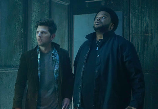 "Slide 1 of 37: GHOSTED: Pictured L-R: Adam Scott and Craig Robinson in the ""Pilot"" episode of GHOSTED premiering Sunday, Oct. 1 (8:30-9:00 PM ET/PT) on FOX. ©2017 Fox Broadcasting CO. CR: Kevin Estrada/FOX"
