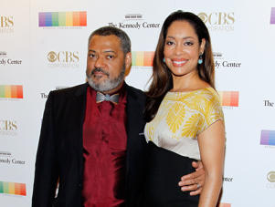 WASHINGTON, DC - DECEMBER 06: Laurence Fishburne and Gina Torres attend the 38th Annual Kennedy Center Honors Gala at John F. Kennedy Center for the Performing Arts on December 6, 2015 in Washington, DC. (Photo by Paul Morigi/WireImage)