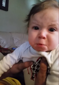 Baby cries when dad hums