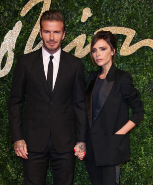 Diapositiva 1 de 40: David Beckham and Victoria Beckham