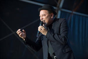BARCELONA, SPAIN - JULY 19:  Ruben Blades performs on stage at Poble Espanyol on July 19, 2017 in Barcelona, Spain.  (Photo by Jordi Vidal/Redferns)