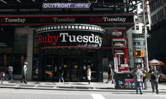 This Friday, Sept. 16, 2016, photo shows a Ruby Tuesday restaurant in New York's Times Square.