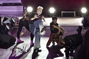 Pink performs live on stage during a concert at the Waldbuehne on August 11, 2017 in Berlin, Germany.
