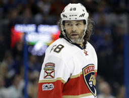 Florida Panthers right wing Jaromir Jagr during the second period of an NHL hockey game against the Tampa Bay Lightning Saturday, March 11, 2017, in Tampa, Fla.