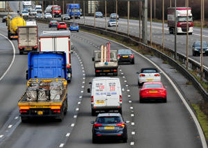 File photo dated of vehicles travel along the M1 motorway