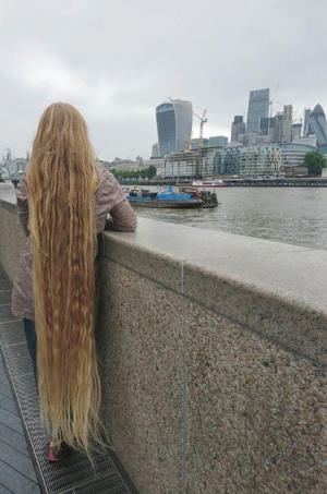 Letting the Londoner's hair dry naturally after a wash takes hours (Image: PA Real Life)