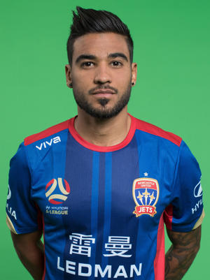 Ronald Vargas poses during the Newcastle Jets 2017/18 A-League Season.