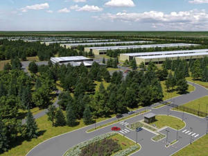 Artist's impression of the data centre