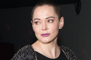 Actress Rose McGowan attends 'Charliewood - An Exhibition Of Transgressive Movement'.