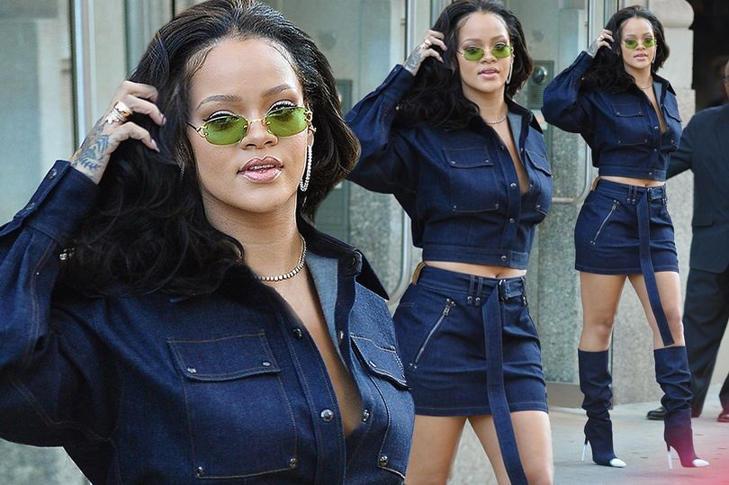 Rihanna looks fierce as she steps out in NY