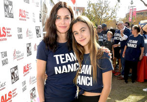LOS ANGELES, CA - OCTOBER 15: Courteney Cox and daughter Coco Arquette attend Nanci Ryder's 'Team Nanci' 15th Annual LA County Walk To Defeat ALS at Exposition Park on October 15, 2017 in Los Angeles, California.