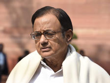 Former Union Minister of Finance and Congress Rajya Sabha MP P. Chidambaram arrives for attending the Parliament Budget Session.