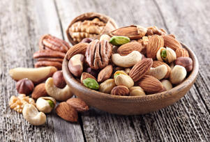DASH dieters must have less than 5 servings of sweets, and 4-5 servings of nuts, seeds, and legumes per week.