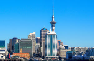 View of Auckland's cityscape / skyline, New Zealand.