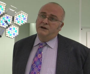 Screen grabbed image taken from PA Video dated 22/11/10 of consultant surgeon Simon Bramhall