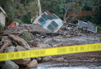 Damaged properties are seen after a mudslide in Montecito