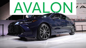 a car parked on the side of a road: 2018 Detroit Auto Show: 2019 Toyota Avalon Goes High Tech