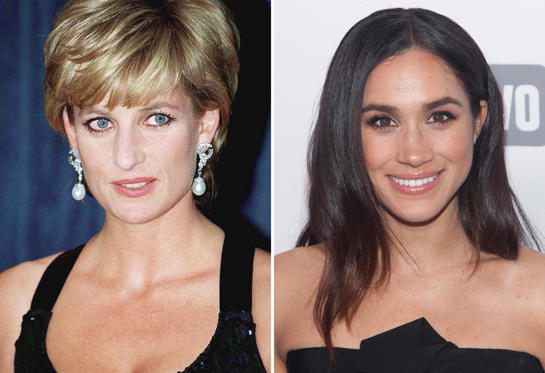 Slide 1 of 12: Princess Diana In New York To Receive Her Award As Humanitarian Of The Year From Henry Kissinger At A United Cerebral Palsy Dinner.   Meghan Markle attends the '2015 NBCUniversal Cable Entertainment Upfront' at the Jacob K. Javits Convention Center in New York City.