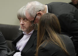 David Allen Turpin appears in court for his arraignment in Riverside, Calif., Thursday, Jan. 18, 2018. Prosecutors filed 12 counts of torture, seven counts of dependent adult abuse, six counts of child abuse and 12 counts of false imprisonment against Turpin and his wife, Louise Anna Turpin. Authorities say the abuse left the children malnourished, undersized and with cognitive impairments.