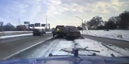 Terrifying video shows car slams into tow truck and flies off its ramp