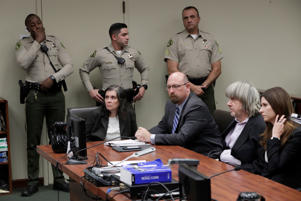 David Turpin and Louise Turpin appear in court for their arraignment in Riverside, California U.S. January 18, 2018.
