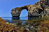 Slide 1 of 16: DWEJRA, GOZO - MAY 20: The natural arch 'The Azure Window' is seen at Dwejra Bay on May 20, 2014 in Dwejra/Gozo, Malta. (Photo by Sascha Steinbach/Getty Images)