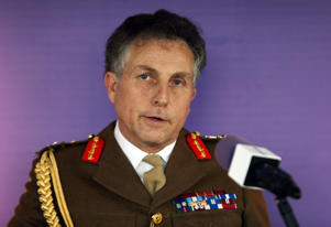 General Sir Nick Carter, Chief of the General Staff, makes a speech during the launch of the army's leadership doctrine at the BT Tower in central London.